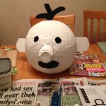 papermache wimpy kid