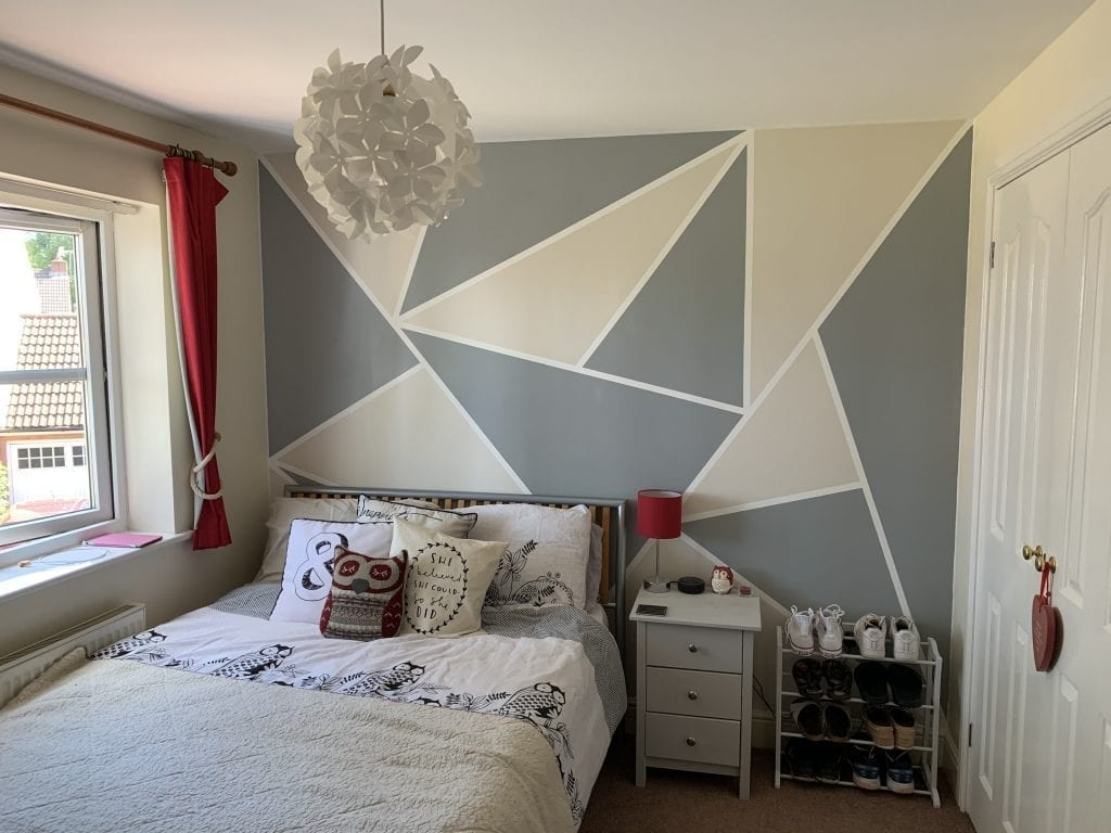 How To Paint Geometric Wall Designs Emma And 3